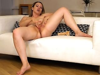 Chubby Cougar Anastasiya Is Playing With Her Fat Bosoms And Romp-starved Coochie