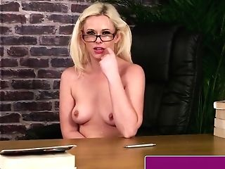 Brit Mummy Gargles For Facial Cumshot At Her Office