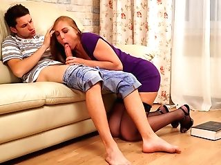 Fucky-fucky-greedy Step Mom Marta Permits Stepson To Penetrate Her Mouth-watering Slit