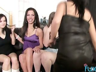 Memorable G/g Orgy Featuring Four Oversexed Beautiful Gfs