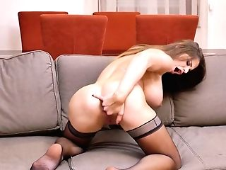 Alluring Seductress Cathy Heaven Plays With Her Massive Funbags And Yummy Cunt