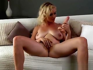 Mom Blonde Cougar Lets Us Witness Her Finger Herself To Orgasm