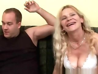 Older Mom With Big Tits And Hairy Cunt Gets Facial Cumshot