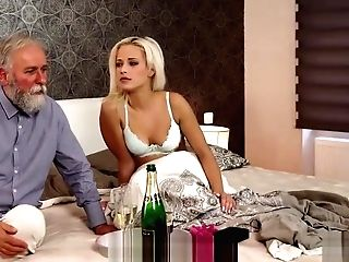 Old And Youthfull Fuck-a-thon Experiment Is A Bday Bounty For Blonde