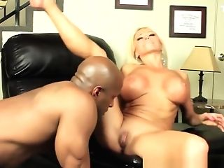 Nikita Von James Slurps Up A Big Black Cock With Her Fuckbox And Mouth