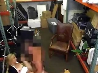 Blonde Cougar Fucked And Taking Facial Cumshot Cum-shot In A Pawn Shop