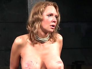 Breast Bonded Sub Bigtits Caned By Male Domination
