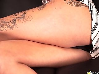 Man Eating Cougar Laura Shows Off Her Nasty Twat Upskirt