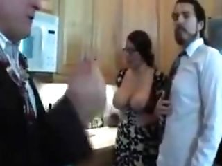 Hot Mummy With Big Tits In Threesome...who Is She???