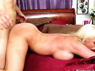 Horn Made Curvy Blondie Alexis Ford Rails On Stiff Penis