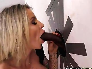 Big-chested Danielle Derek Gets Creampied By A Big Black Cock - Gloryhole