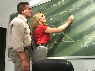Sexy Lady Tanya Tate Helps The Tutor Get Convenient In The School