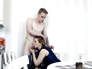 'tutor4k Hot Tutor Covered With Whipped Testicle Tonic During Intercourse With Disciple'