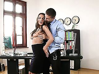 Steamy Office Fuckfest With Voracious Dominica Lito And Totti Is Must See
