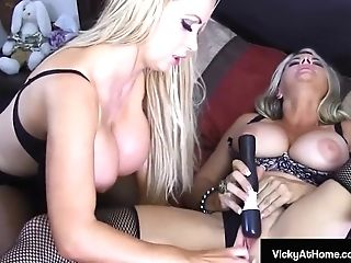 """""""big-chested Vna Commander Vicky Vette Fuck Stick Bangs With Nikki Benz!"""""""