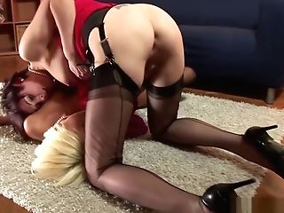 Matures Brit Stockings Finger-tickled