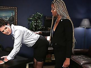 Master Black Whore Lotus Lain Makes Matures Tying Mega-bitch Slurp Her Twat