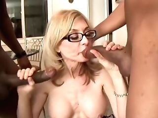 Nina Hartley Starts A Two On 1